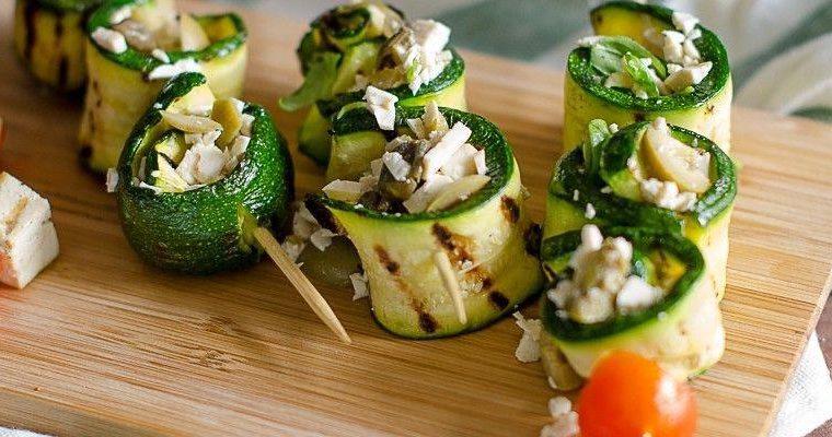 Involtini di zucchine e tofu